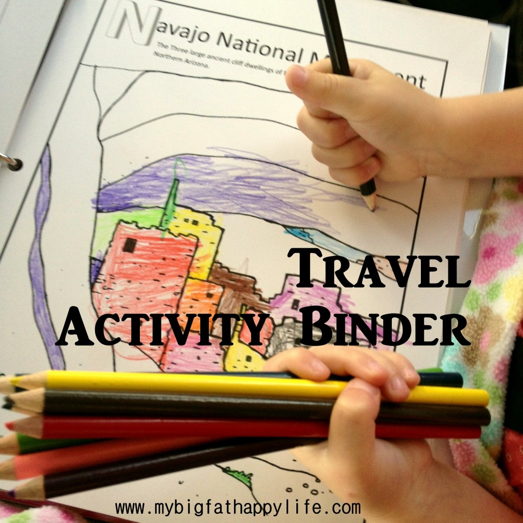 Travel Activity Binder With I Spy Pages For Kids