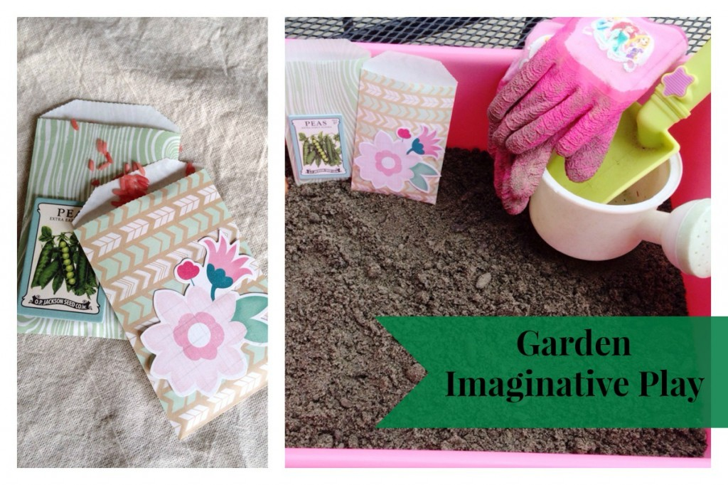 Garden Imaginative Play #playmatters | mybigfathappylife.com