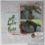 Well, Hello There Scrapbook Layout