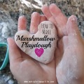 How to Make Marshmallow Playdough #playdough #artsandcrafts #homemade | mybigfathappylife.com