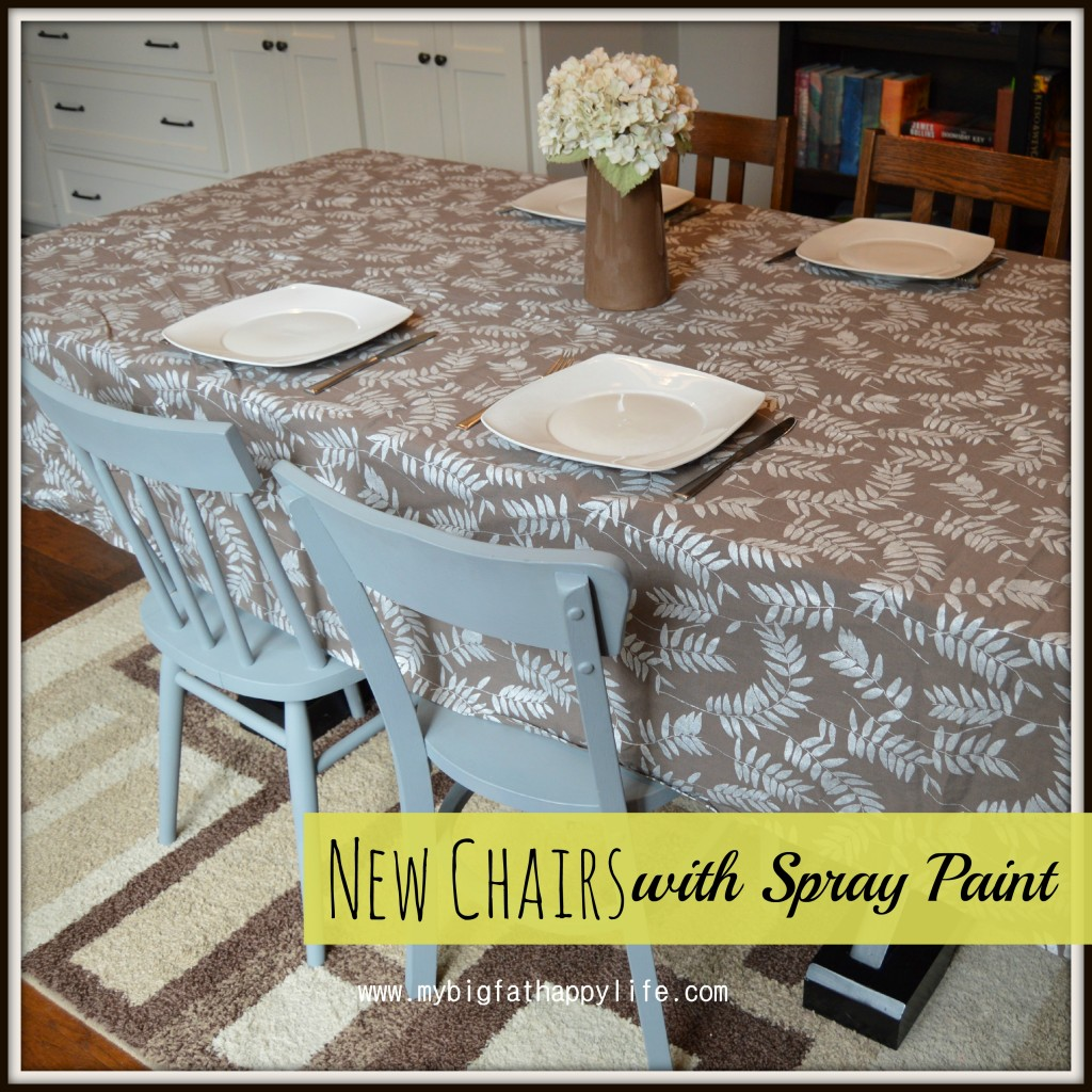 new chairs with spray paint - my big fat happy life