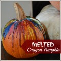 Melted Crayon Pumpkin #fall #pumpkin #alternativetocarving | mybigfathappylife.com