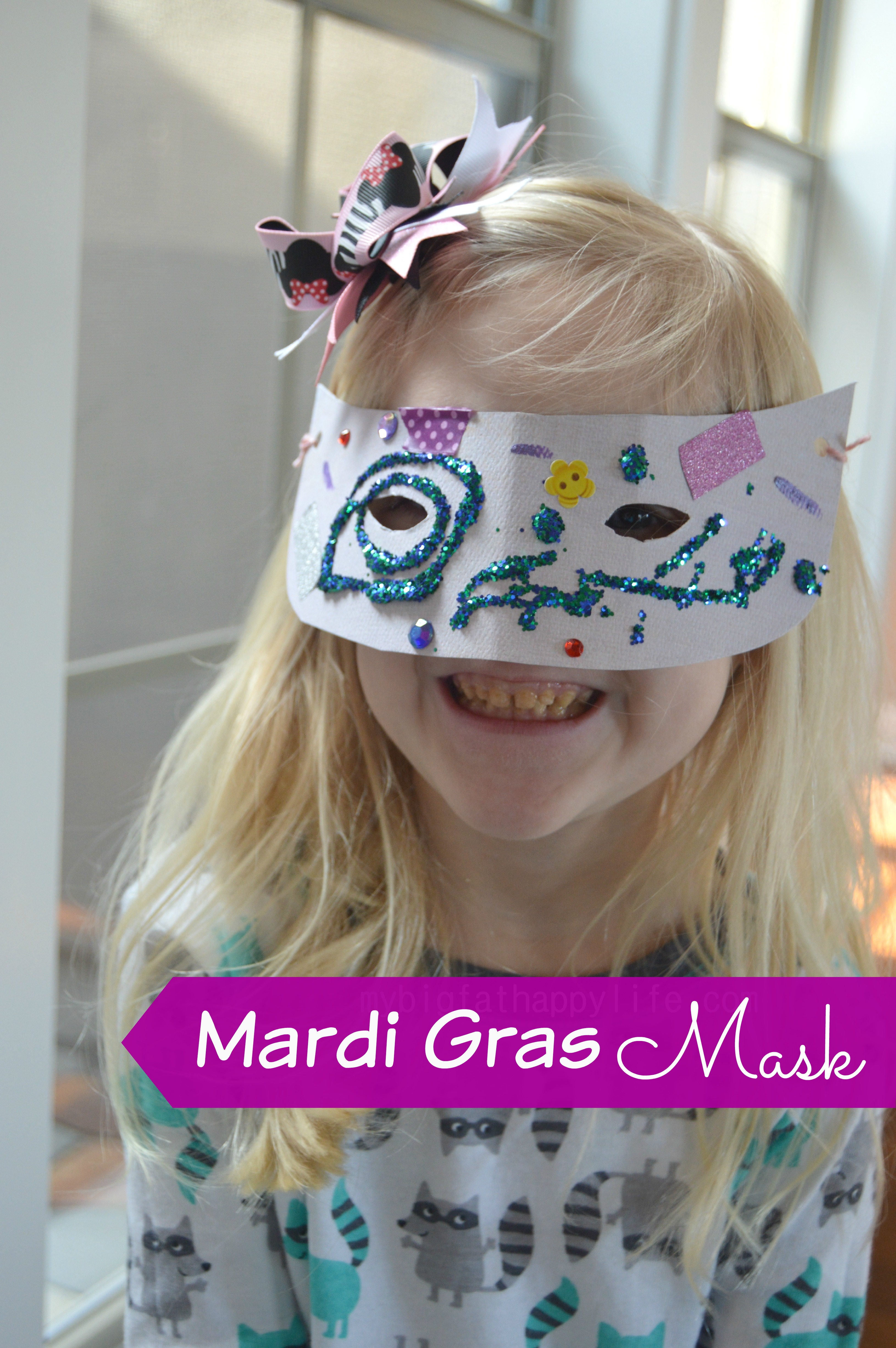 Mardi gras mask my big fat happy life for Mardi gras masks crafts