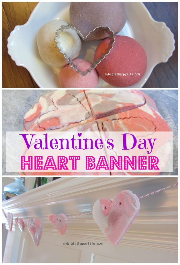 Valentine's Day Heart Banner from My Big Fat Happy Life | Your Turn to Shine Link Party Feature on anderson + grant