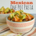 Mexican One Pot Pasta - a flavorful, quick and easy weeknight dinner | mybigfathappylife.com