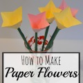 How to Make Paper Flowers, Paper Tulips | mybigfathappylife.com