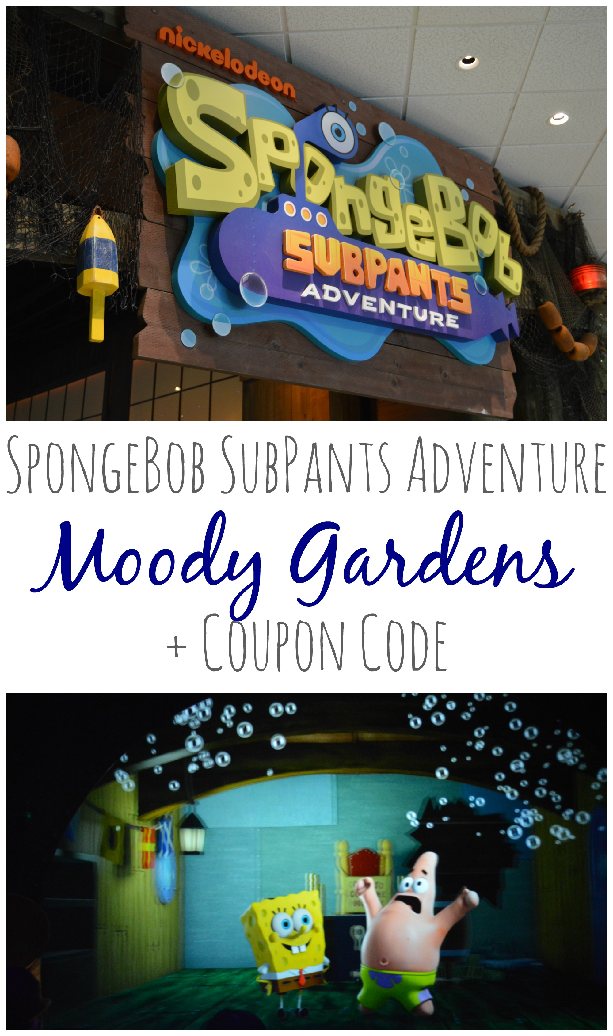 Charming Moody Gardens: SpongeBob SubPants Adventure + Coupon Code #SubPants  #ChooseYourAdventure #BestDiveEver #