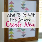 What To Do With Kid's Artwork – Create New