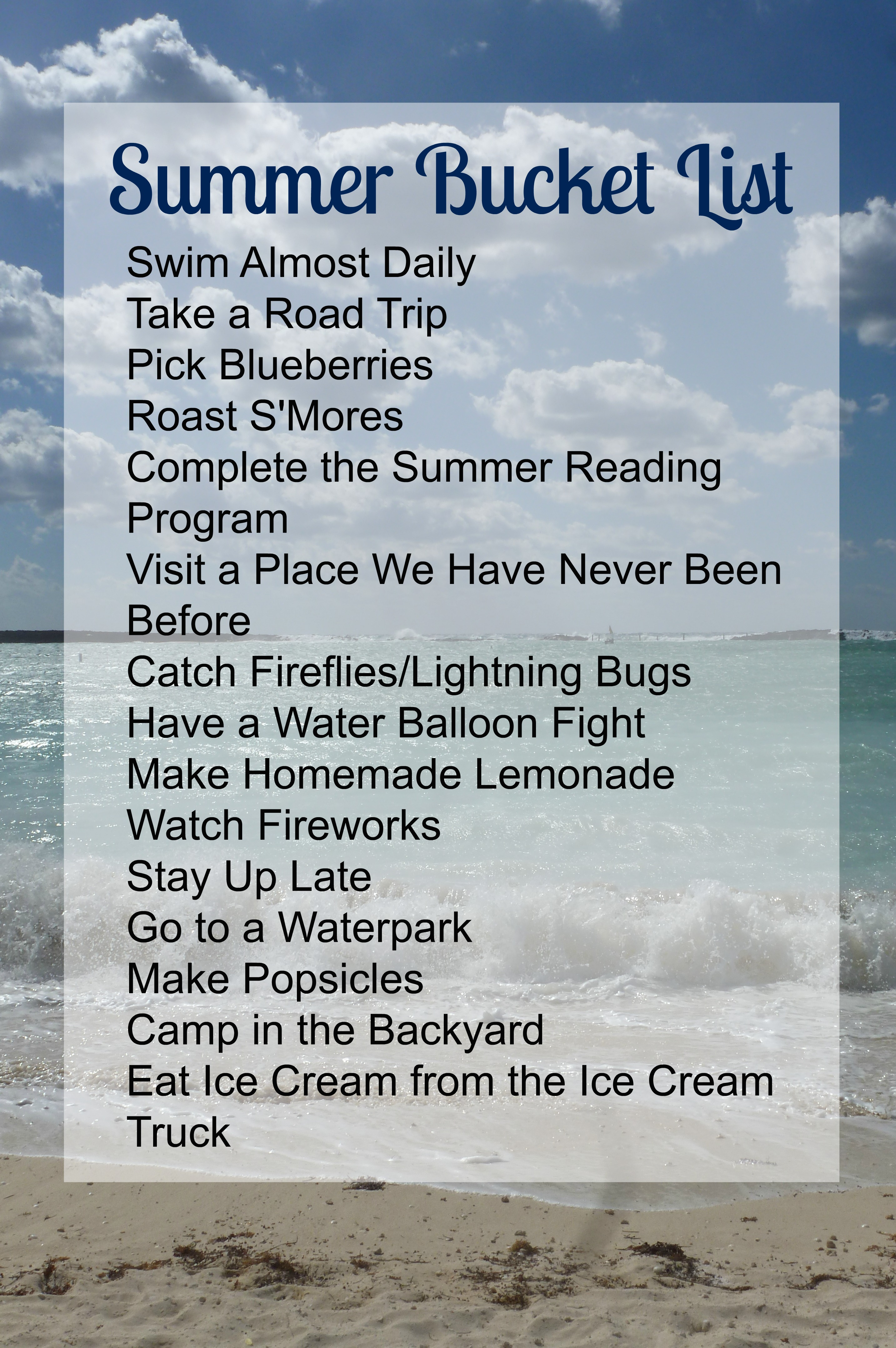 Guys Bucket List Summer Bucket List 2015