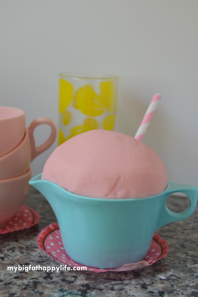 Pink Lemonade Playdough | mybigfathappylife.com