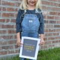 Dear S - First Day of Kindergarten Letter | mybigfathappylife.com