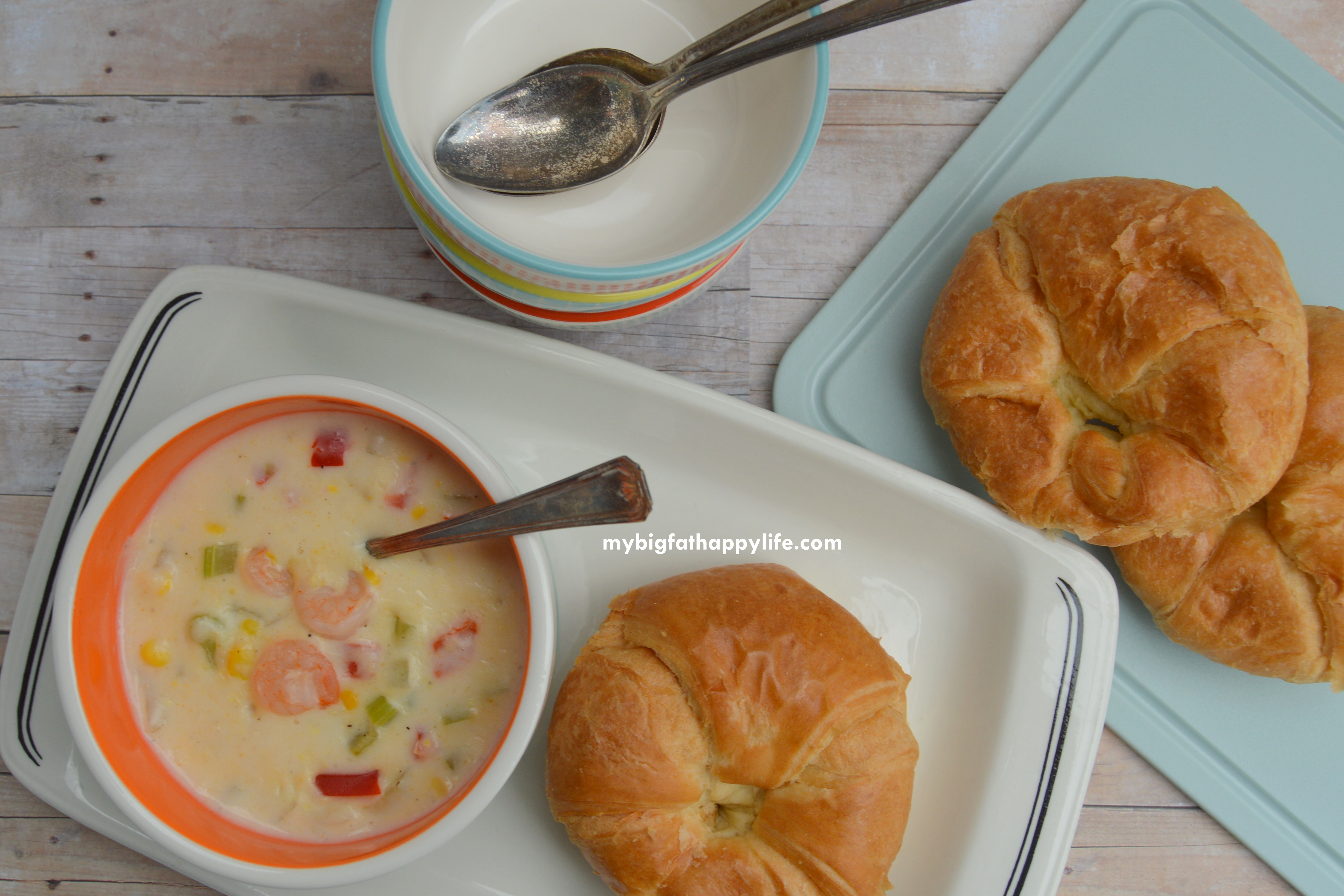 Corn Shrimp Soup with Swanson Chicken Broth #SwansonSummer #cbias (ad ...