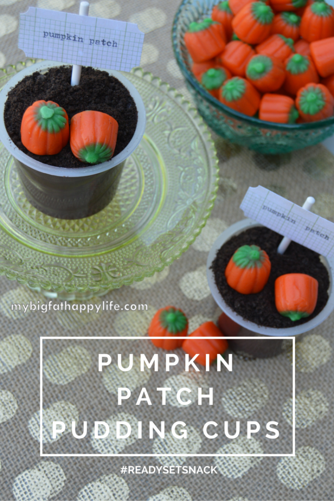 Pumpkin Patch Pudding Cups - A Halloween Snack Idea - My Big Fat Happy Life