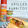 Grilled Burrito Recipe - an easy and fast weeknight dinner option #YesYouCAN #ad | mybigfathappylife.com