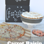 The Big Game Party Menu + Carrot Raisin Salad Recipe