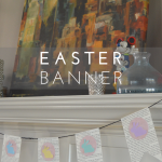 Easter Banner with Free Printable