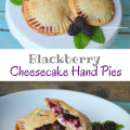 Blackberry Cheesecake Hand Pies, a perfect summertime dessert | mybigfathappylife.com