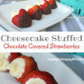 Cheesecake Stuffed Chocolate Covered Strawberries | mybigfathappylife.com