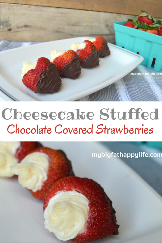 Cheesecake Stuffed Chocolate Covered Strawberries | mybigfathappylife ...