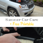 Summer Car Care + Free Printable