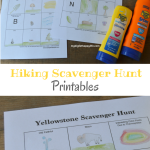 Hiking Scavenger Hunt Printables
