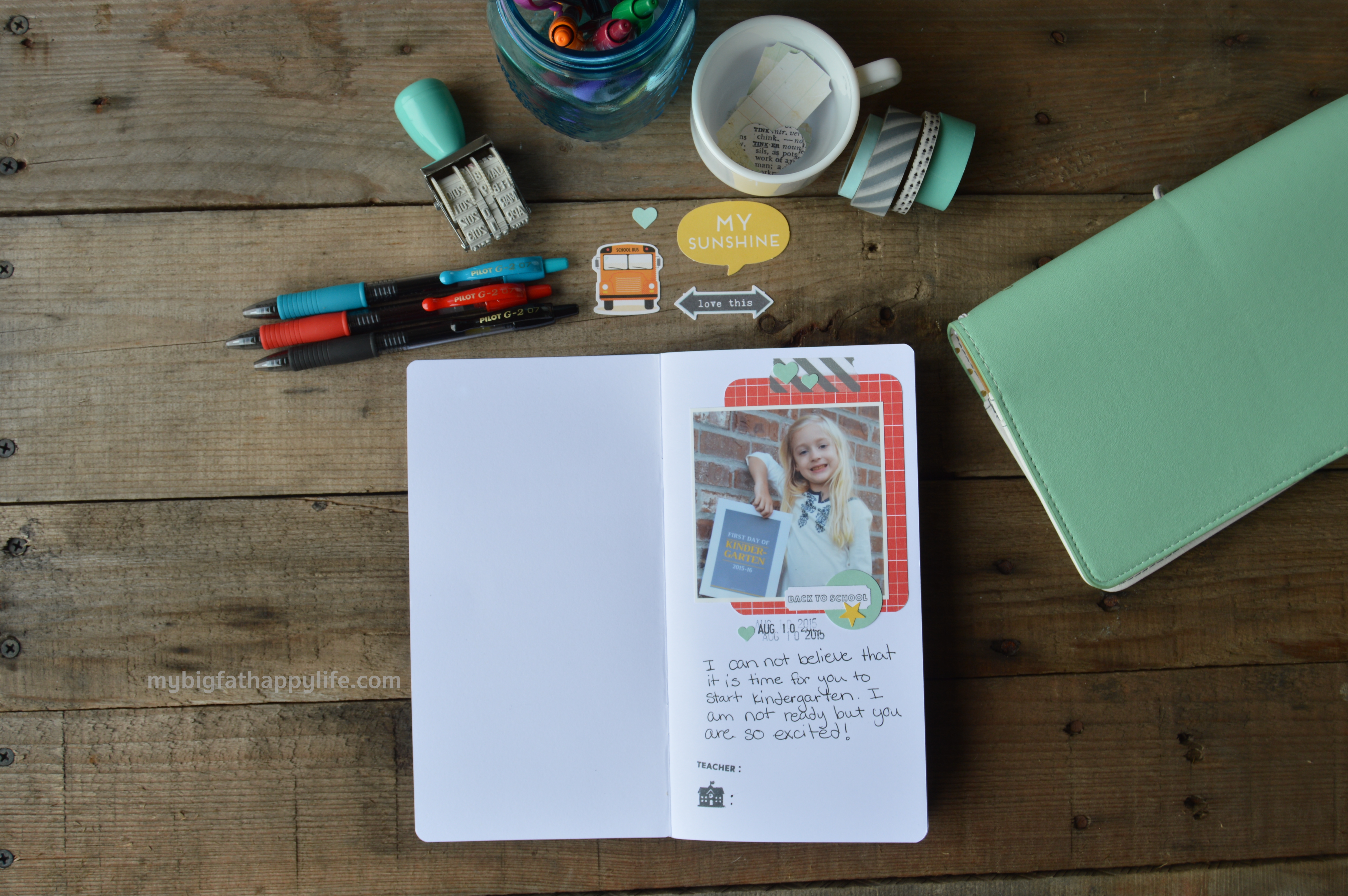 How to scrapbook school years - A Scrapbook Or Traveler S Notebook To Document Your Child S School Year How To Document Your