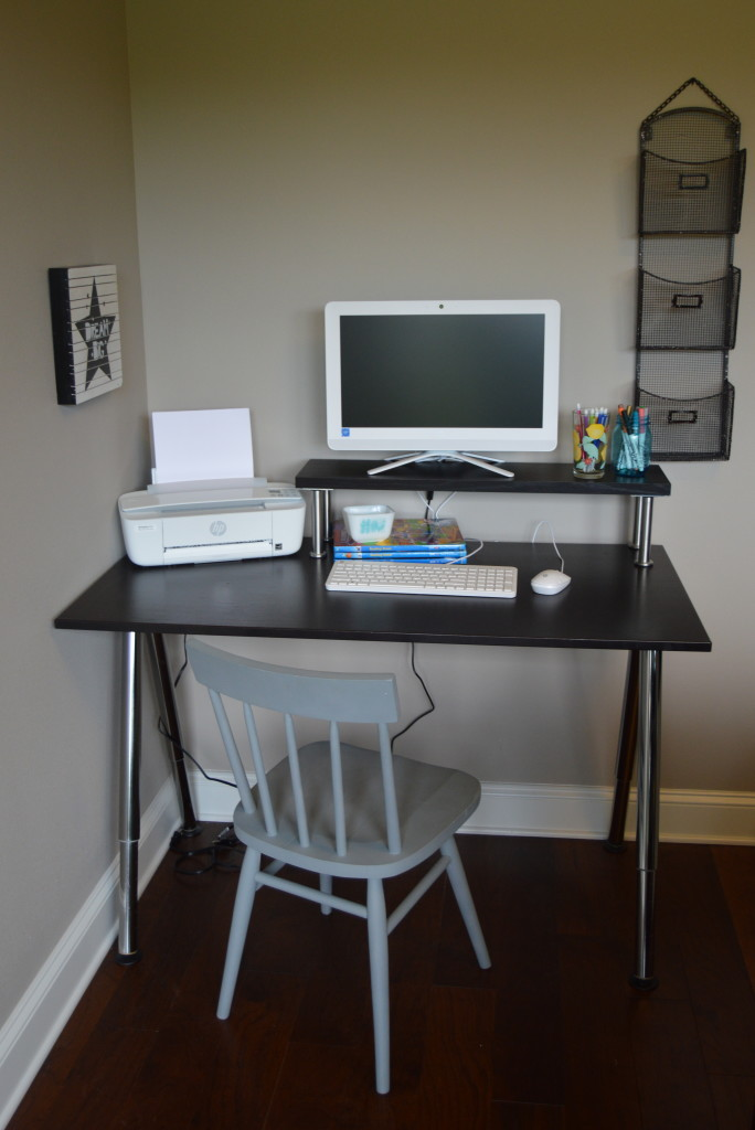 How to Setup a Homework Station #BTSwithHP #ad | mybigfathappylife.com