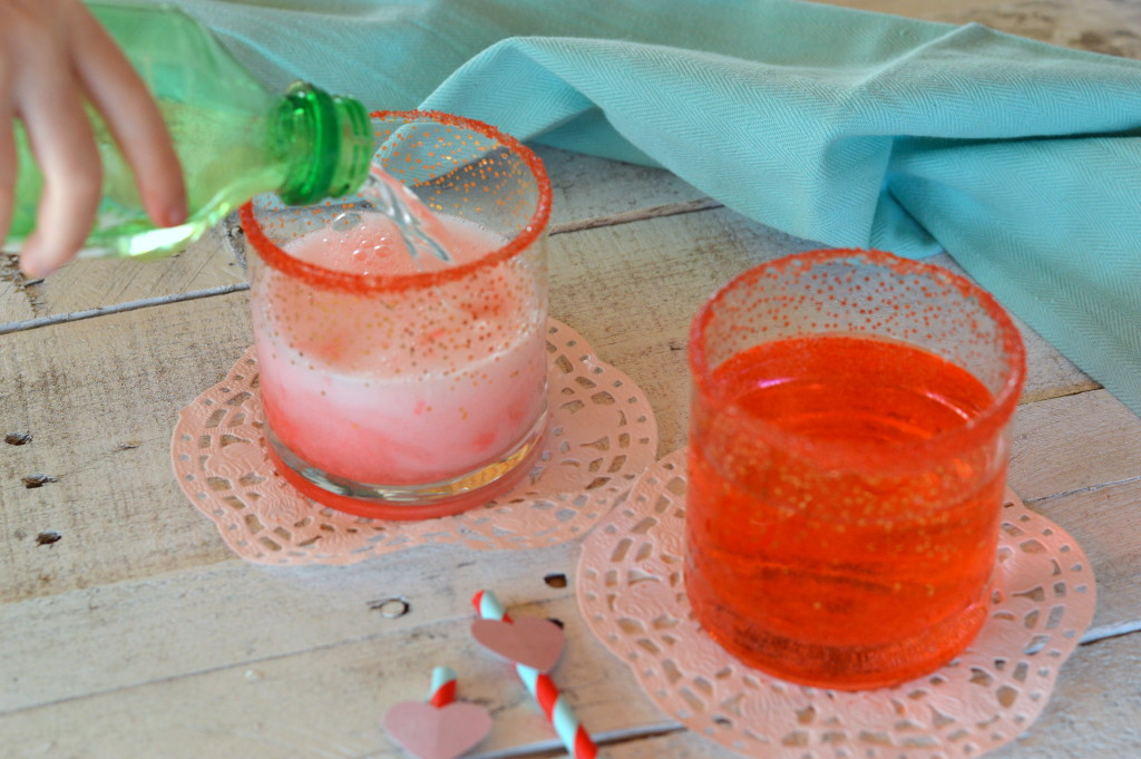 Cotton Candy Mocktails are a perfect addition to your Valentine's Day family dinner or any special occasion. | mybigfathappylife.com