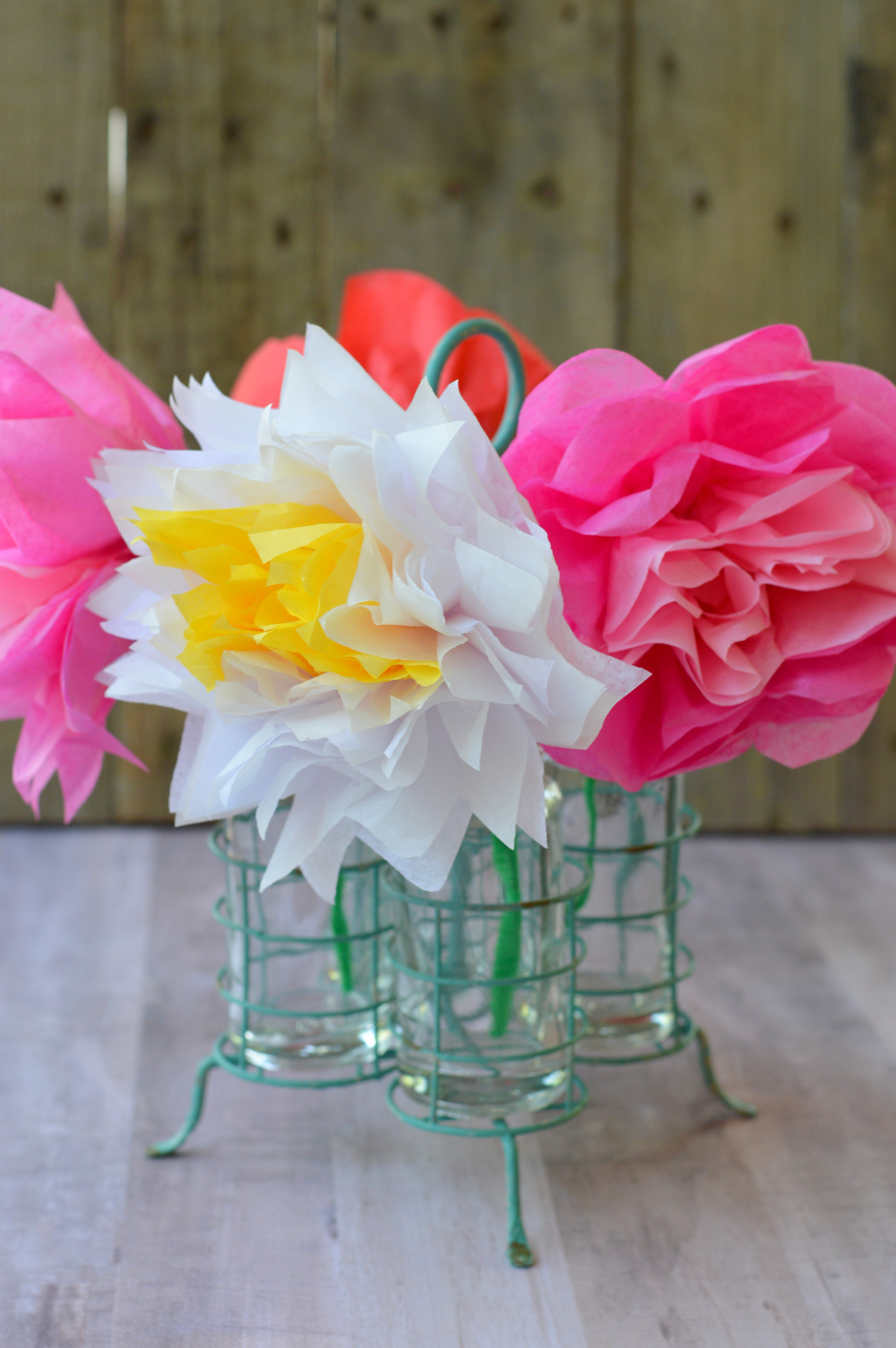 Tissue Paper Flowers For Mother S Day My Big Fat Happy Life