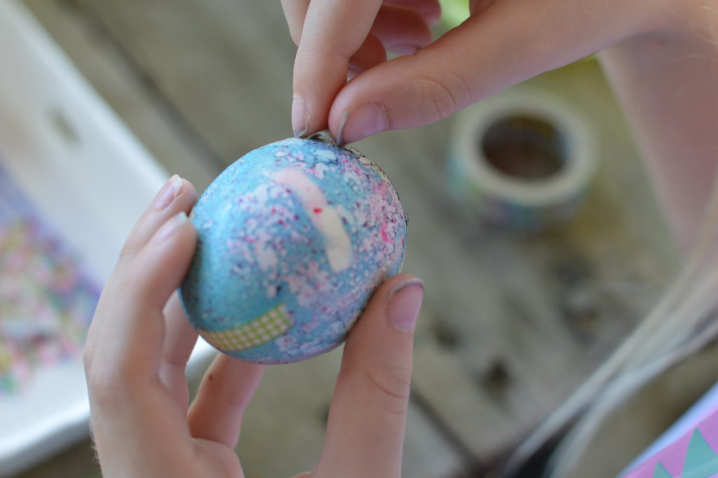 Decorating Easter Eggs with Washi Tape and Food Coloring | mybigfathappylife.com