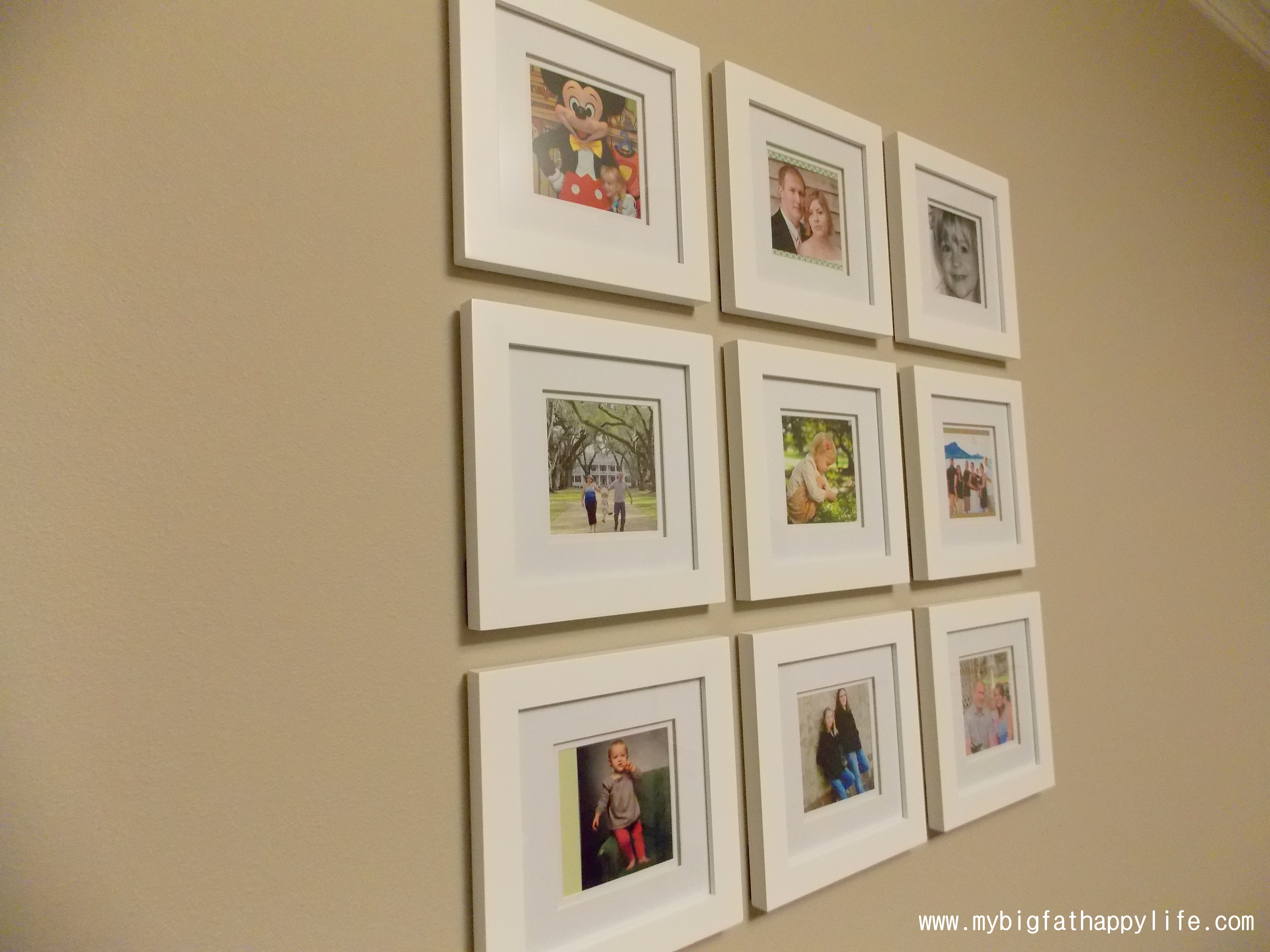 Arranging Multiple Picture Frames on the Wall - My Big Fat Happy Life