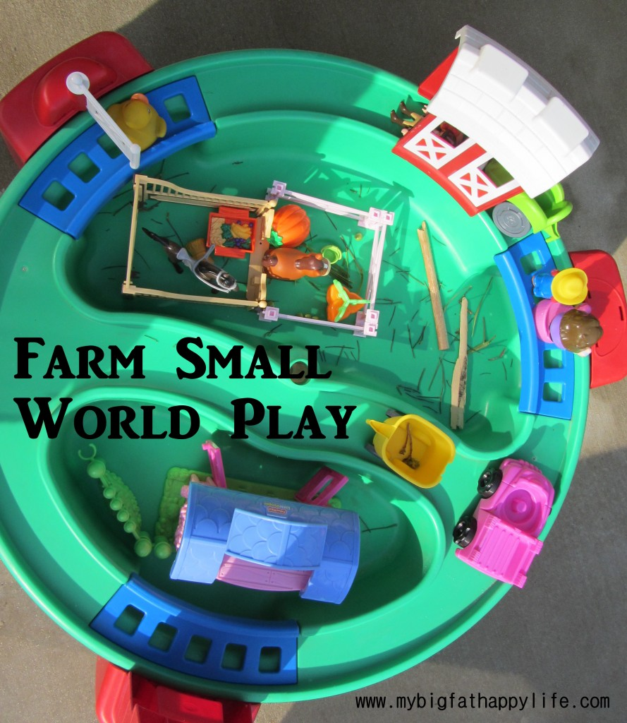 Farm Small World Play | mybigfathappylife.com