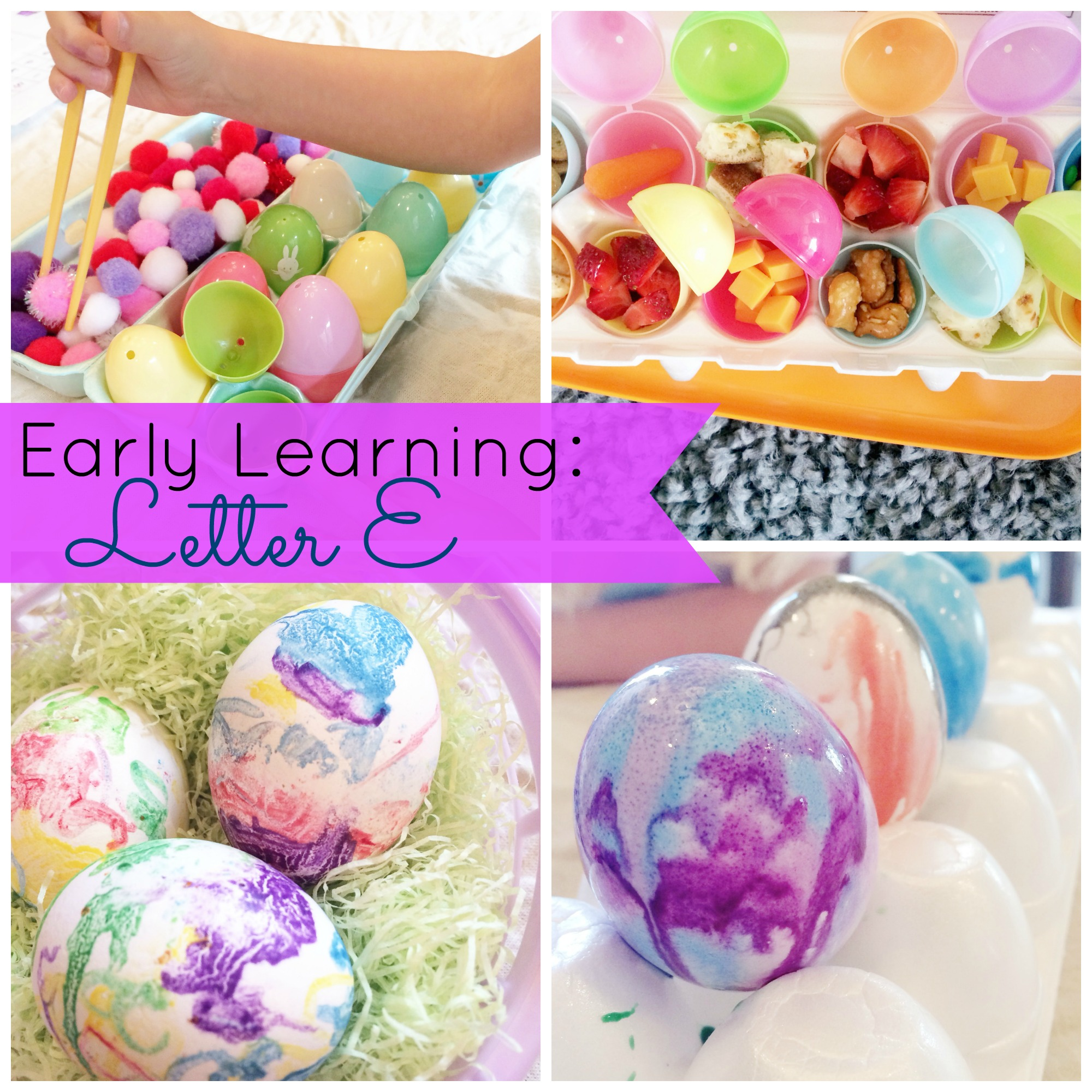 Preschool/Early Learning: Letter E | mybigfathappylife.com