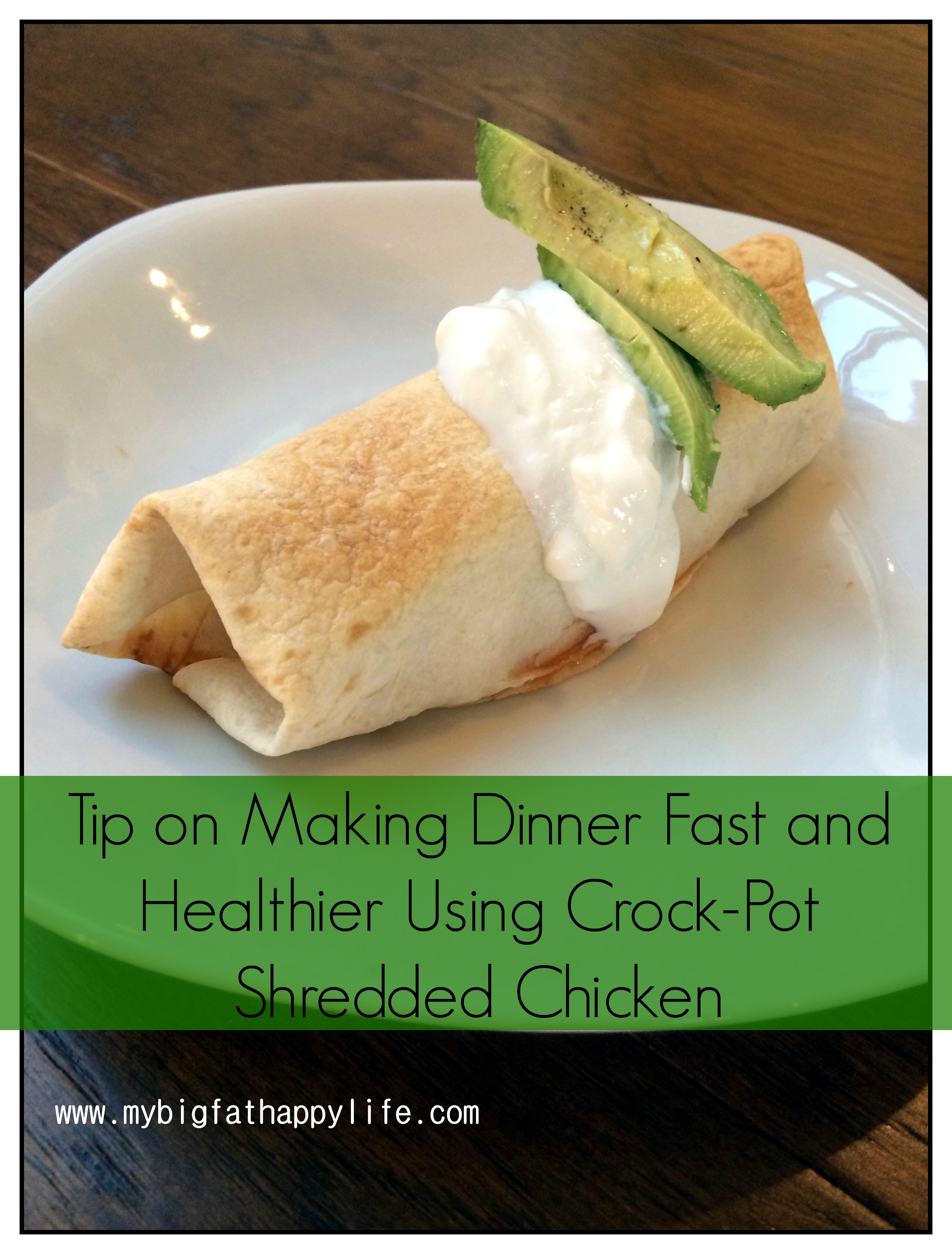 How to make quick healthy dinners: Shredded Chicken in the Crock-pot