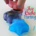 Ice Cube Painting #artsandcrafts | mybigfathappylife.com
