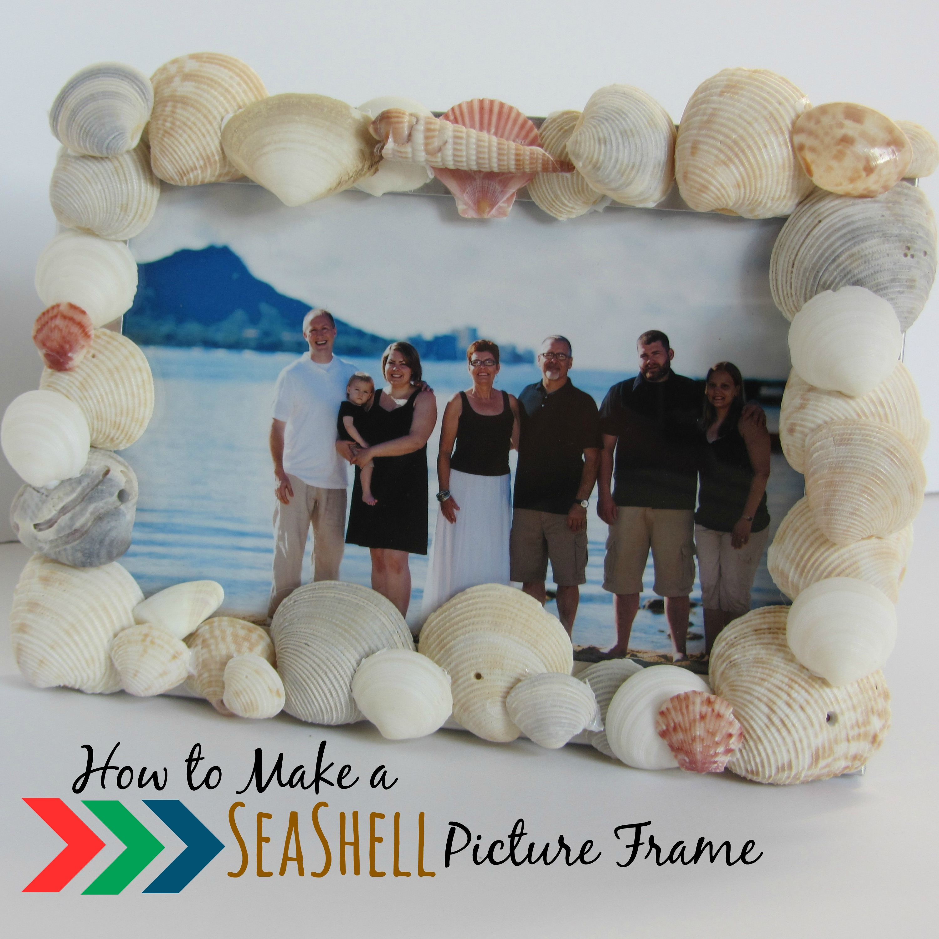 How to Make a Seashell Picture Frame - My Big Fat Happy Life