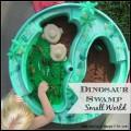 Dinosaur Swamp Small World Play #imaginativeplay #sensory #smallworld #kidactivity | mybigfathappylife.com