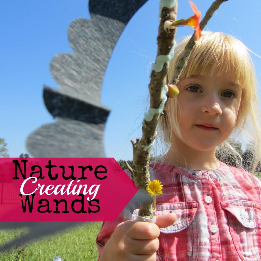 Creating Nature Wands #artsandcrafts #kidsactivity | mybigfathappylife.com
