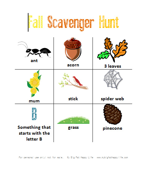 photo regarding Fall Scavenger Hunt Printable identify How toward Consist of a Yard Scavenger Hunt with Free of charge Printable