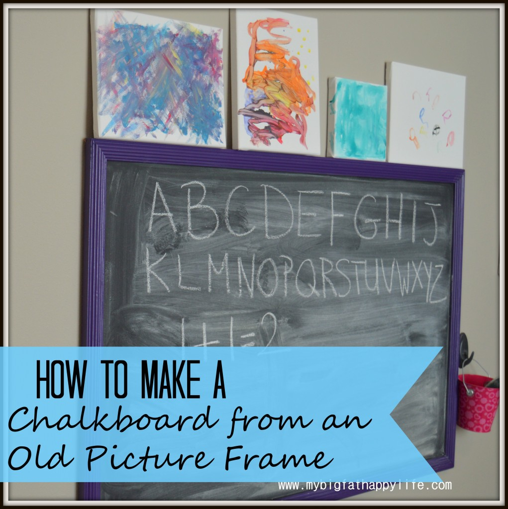 How to make a chalkboard from an old picture frame my for Making a large picture frame