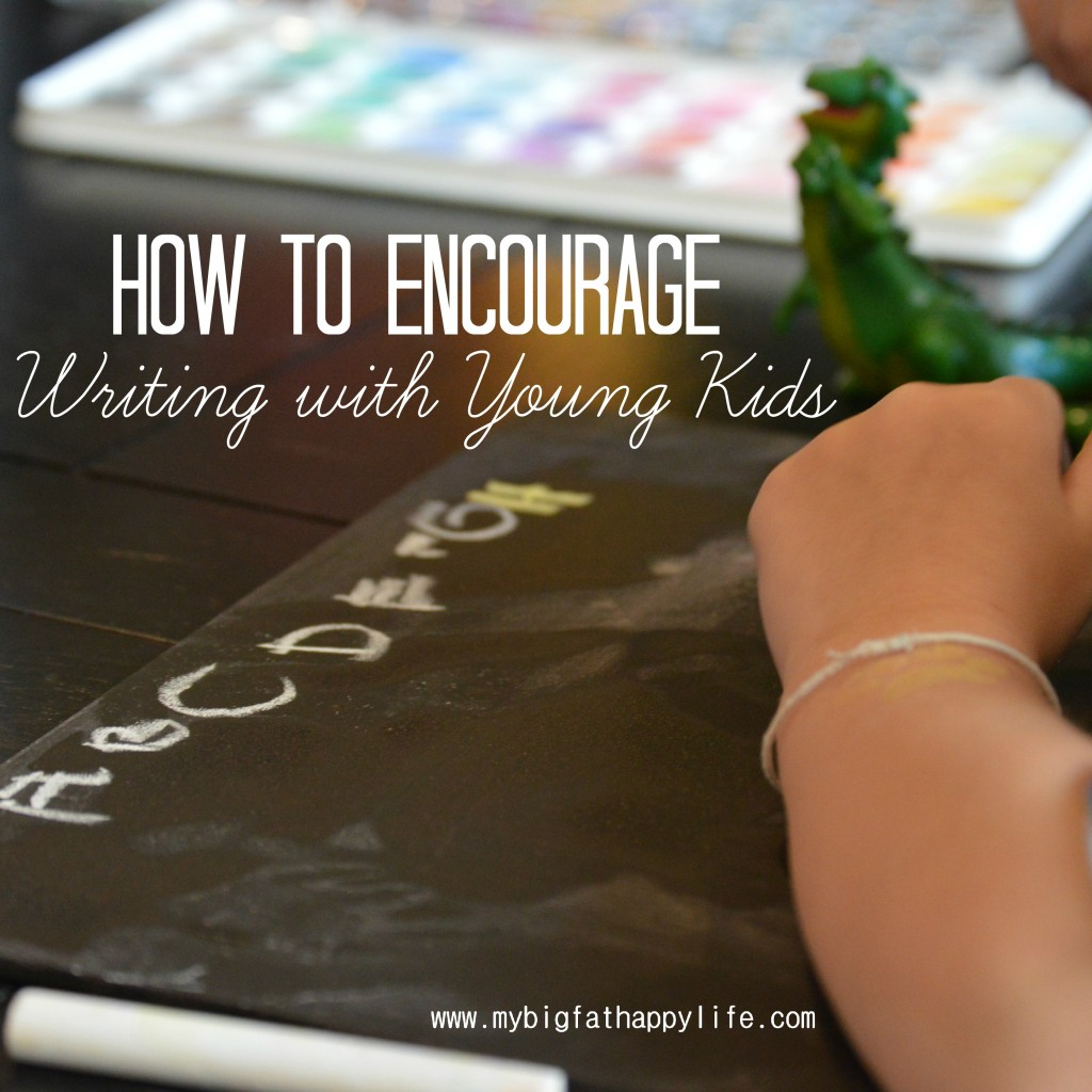How to Encourage Practicing Writing #earlylearning #abcs #preschool #totschool #homeschool | mybigfathappylife.com