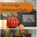 Mod Podge Halloween Craft #plaidcrafts #modpodge #decoden #whippedclay | mybigfathappylife.com