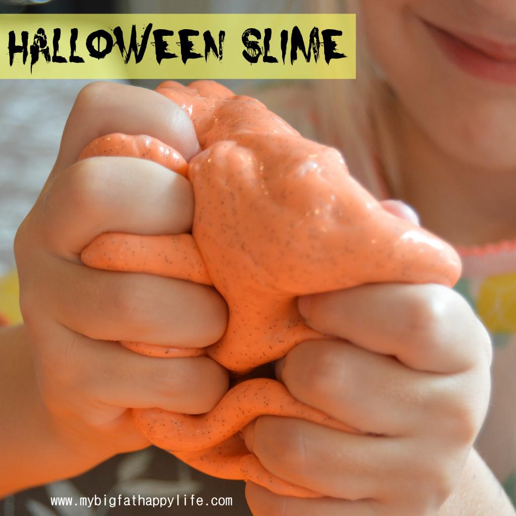 Halloween Slime #halloween #fall #slime #sensory | mybigfathappylife.com