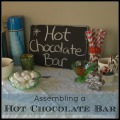Assembling a Hot Chocolate Bar #Christmas #Christmasmorning | mybigfathappylife.com