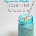 Peppermint Mocha Frozen Hot Chocolate | mybigfathappylife.com