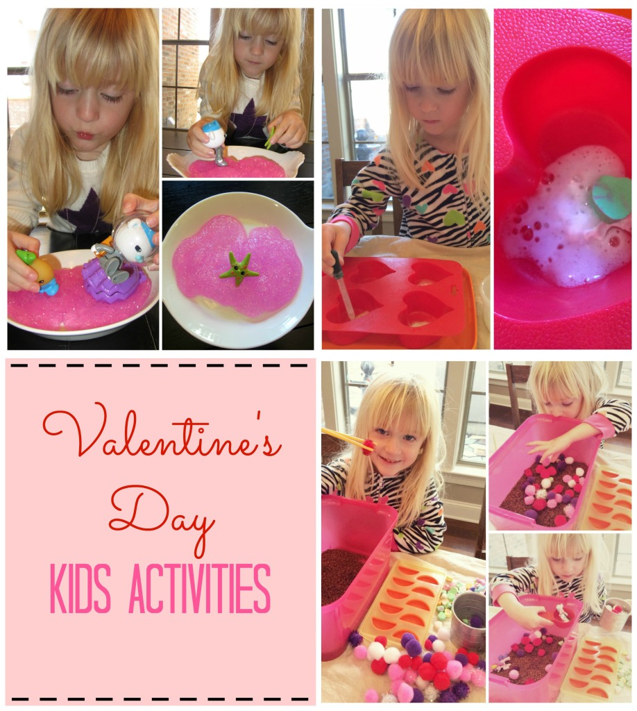 Valentine's Day Kids Activities; slime, sensory bin, color and scented rice, arts and crafts and science experiment | mybigfathappylife.com