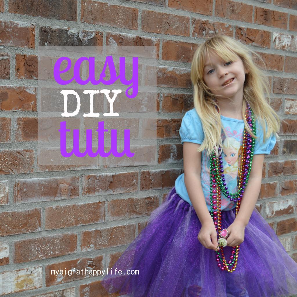 easy DIY tutu; how to make a tutu   mybigfathappylife.com