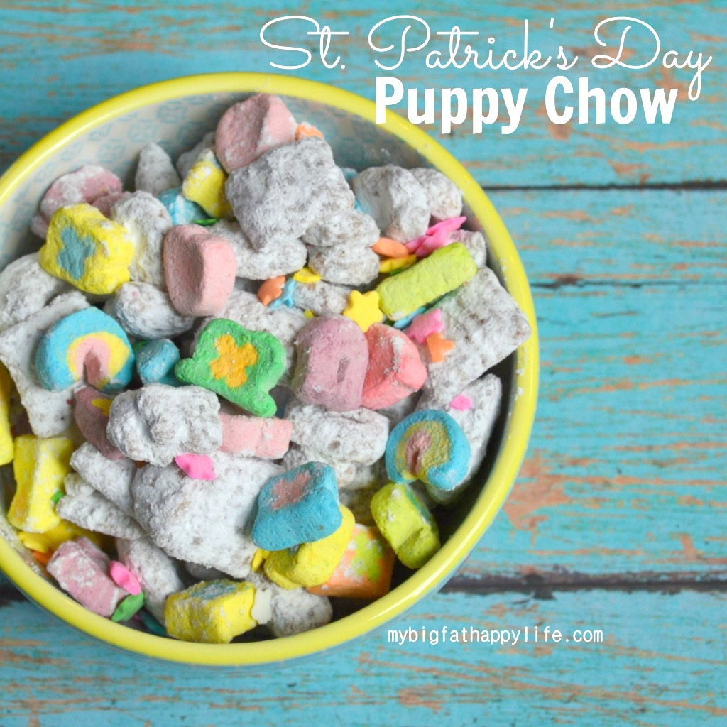 St Patrick's Day Puppy Chow or Muddy Buddies | mybigfathappylife.com