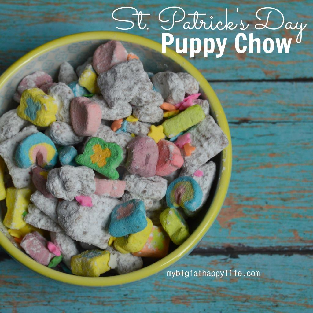 St. Patrick's Day Puppy Chow or Muddy Buddies | mybigfathappylife.com