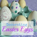 Decorating Easter Eggs with Tea Stain, Monogram and Glitter | mybigfathappylife.com